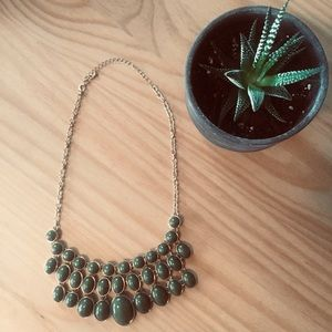 Olive green necklace from Francesca's